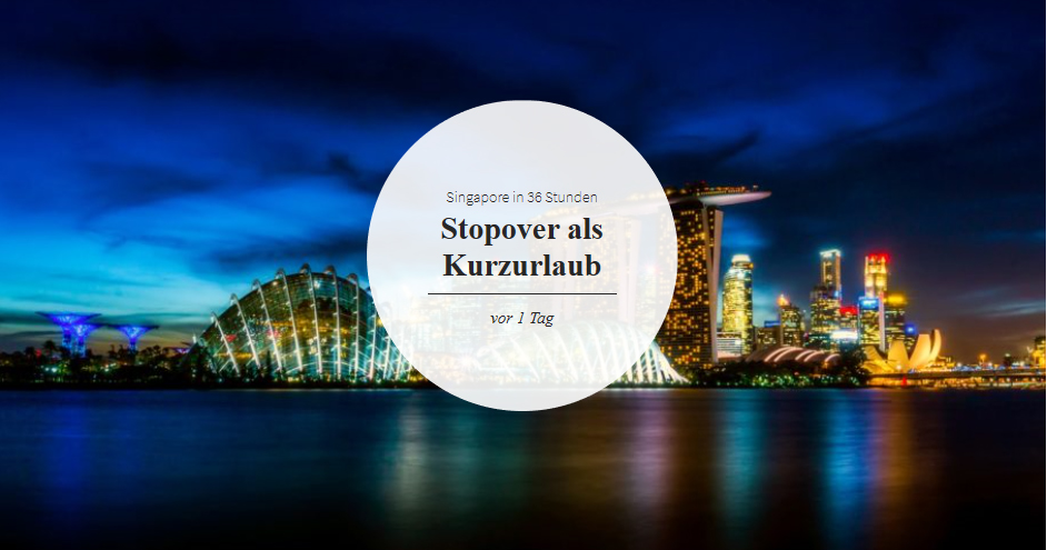 singapore stoppover